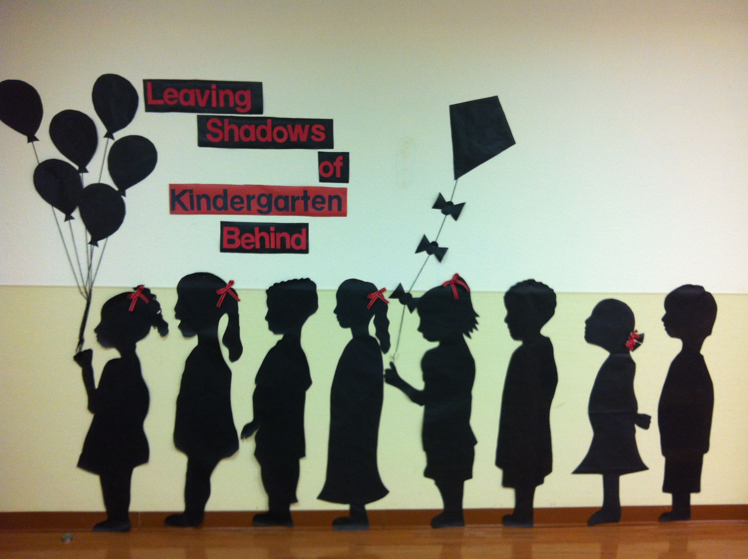 Graduation! Use an overhead to trace students silhouettes onto black ...