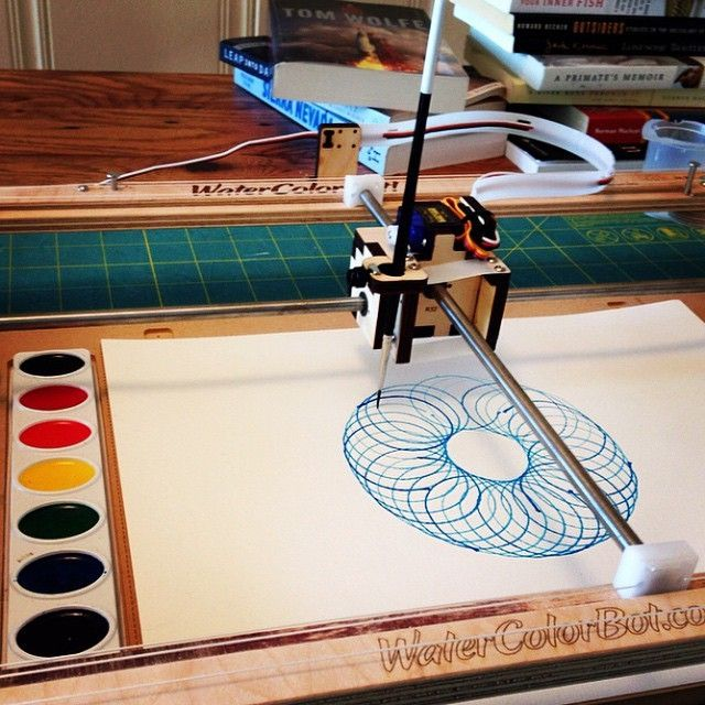 Exploratorium Watercolorbot Spirograph By Tinkeringstudio