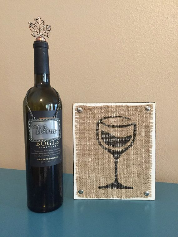 Wine Wood Sign Symbol Decor Kitchen By Peavypieces