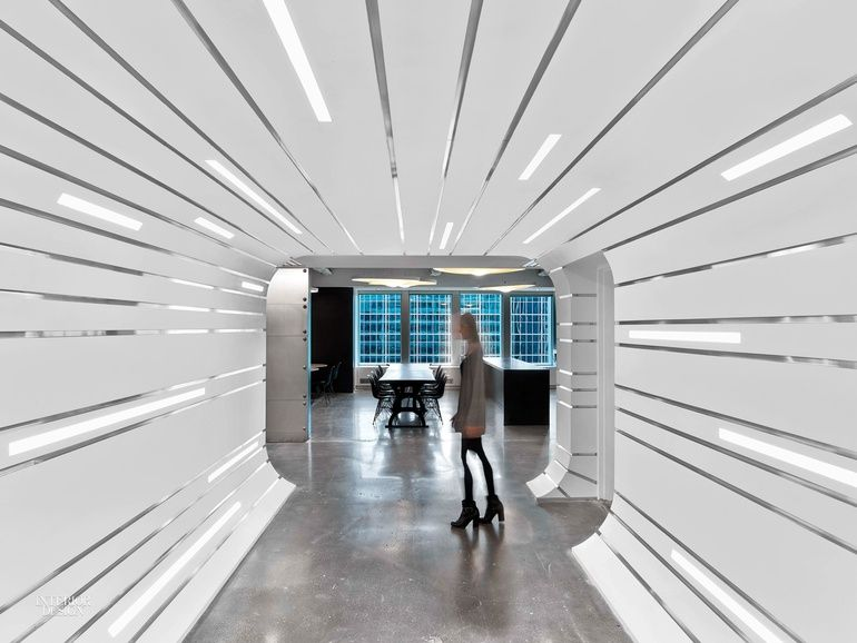 New Office Projects by Emerging Firms Corridor Interiors and Cafe