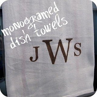easy monogramming without a cricket or silhouette machine
