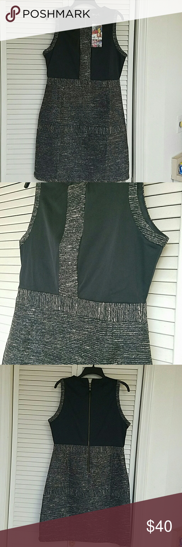 NWT Knee Length Black & Burlap Fabric Dress This dress is adorable and a must have!!!! The fit is perfect.....wear for any occasion......work, play or evening!! Brand new with tags. Dresses