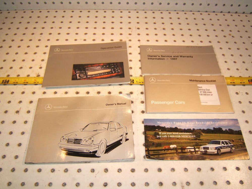 Mercedes 1997 W210 E320 E300d E420 Owner S Manuals 1 Set Of 5 Booklets No Case Owners Manuals Mercedes Manual