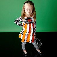 That's right, it's time for ghosts, pumpkins, witches and black cats! Get little ones into the spirit of the spookiest season with these Halloween-inspired tops and bottoms. Loaded with fun phrases and silly characters, these festive fashions look sweeter than candy corn—perfect for parties, photo-ops and any other time trick-or-treaters aren't in costume.