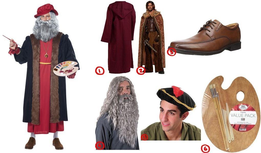 Leonardo Da Vinci Costume For Cosplay Halloween 2020 Renaissance Fashion Leonardo Da Vinci Medieval Hats