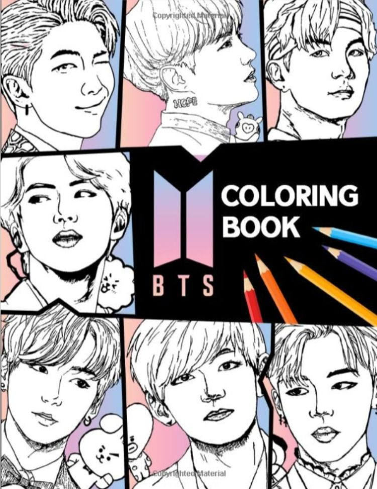 Bts Coloring Book Bangtan Boys Coloring Books For Kpop Army Fans 54pages In 2020 Coloring Books Boy Coloring Books