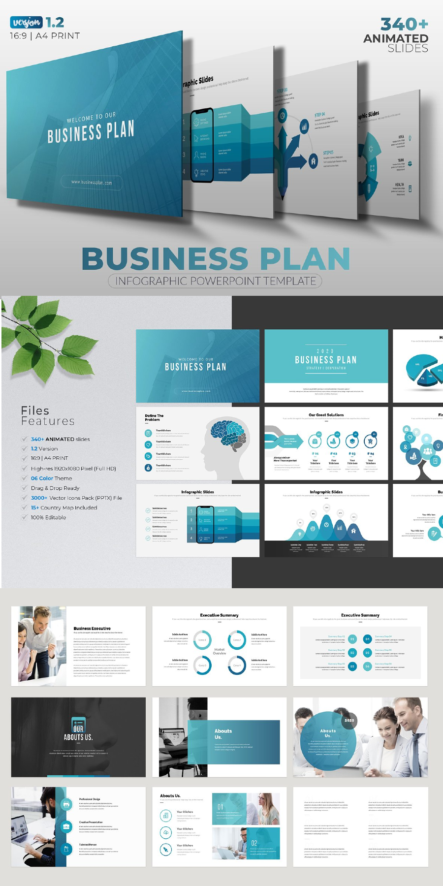 Business Plan Infographic Powerpoint In 2020 Business Plan Infographic Business Plan Presentation Infographic Powerpoint