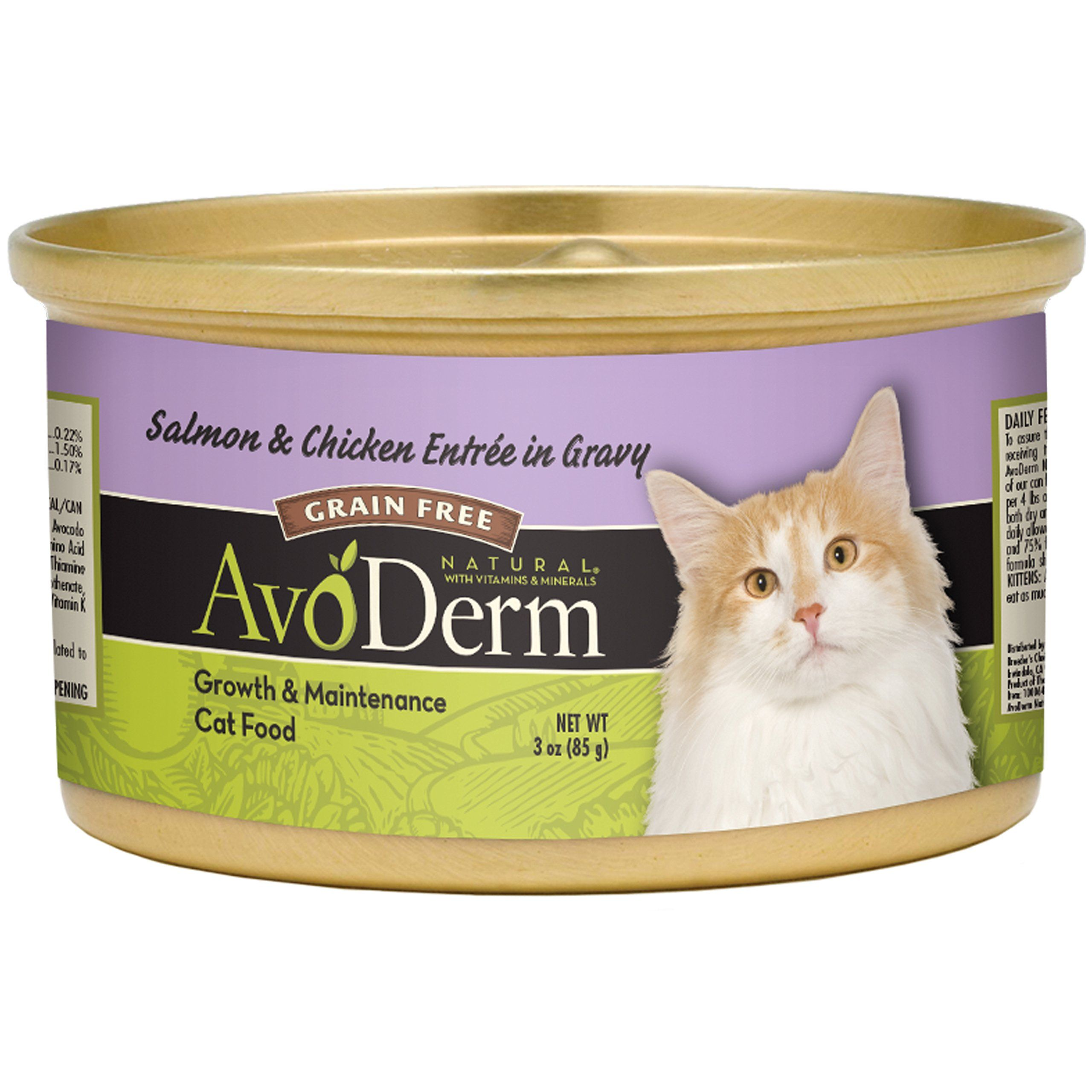 Avoderm natural grain free salmon and chicken entree in