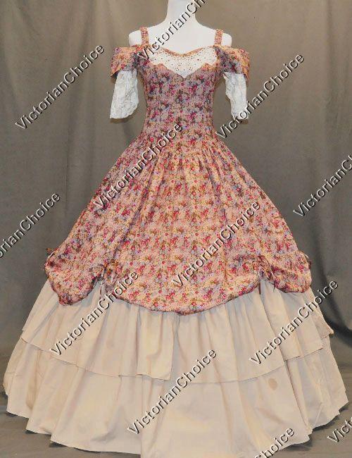 Victorian Civil War Southern Belle Princess Dress Ball Gown Theater ...