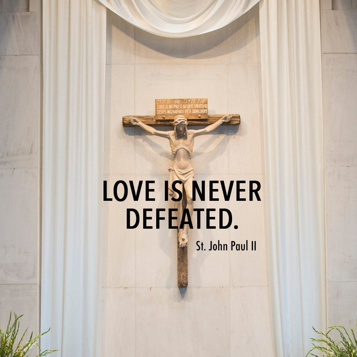 Love is never defeated reflectwithmystics gods word light in quotation buycottarizona Choice Image