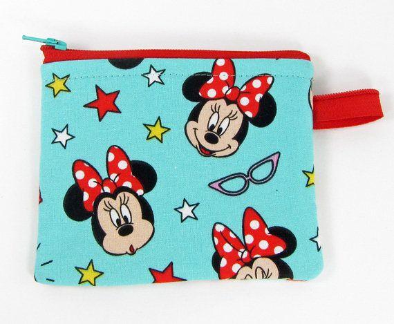 Minnie Mouse, change purse, credit card case, business card holder, womens change purse, credit card wallet, mini wallet, minimalist wallet