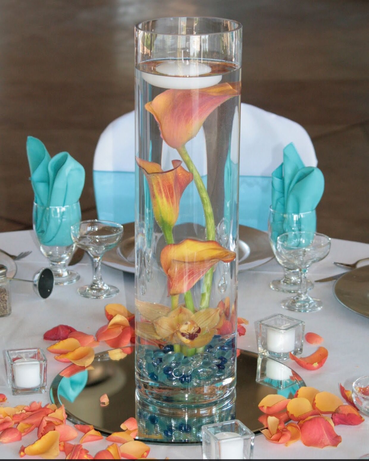 Wedding Centerpiece Coral Turquoise (With Images