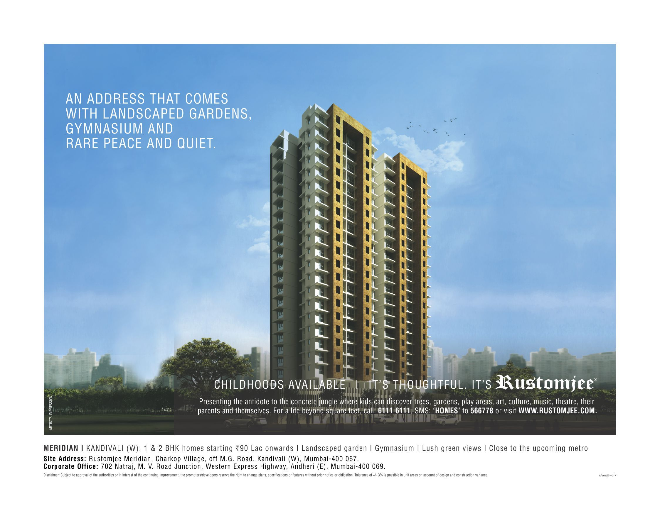 a71c8ba14b39a8a3f5f4b12cff628df1 presenting a life beyond square feet, at rustomjee meridian  at aneh.co