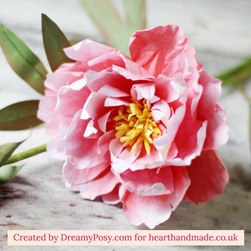 Make Gorgeous Paper Peonies With A Few Simple Supplies -   19 diy paper peonies