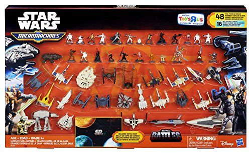Star Wars Micro Machines Pack Ultimate Saga Battles   Star Wars Micro Machines Pack Ultimate Saga Battles Launch into action and adventure in the world of Star Wars! Discover exciting stories of good versus evil in a galaxy of heroes and starships. This Micro Machines Ultimate Saga Battles set includes 24 vehicles, 24 figures, and a battle mat. Imagine epic battles and determine the fate of the galaxy! Collect and battle with this and other favorite vehicles from Star Wars. 48 total ..