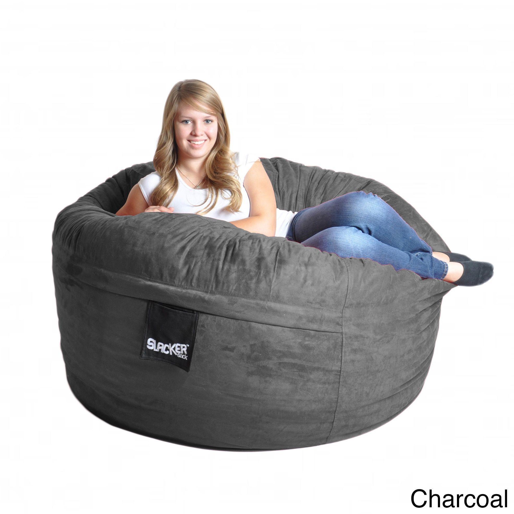 Slacker Sack 5 foot Microfiber and Memory Foam Bean Bag 5