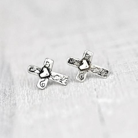 Baby Cross Earrings