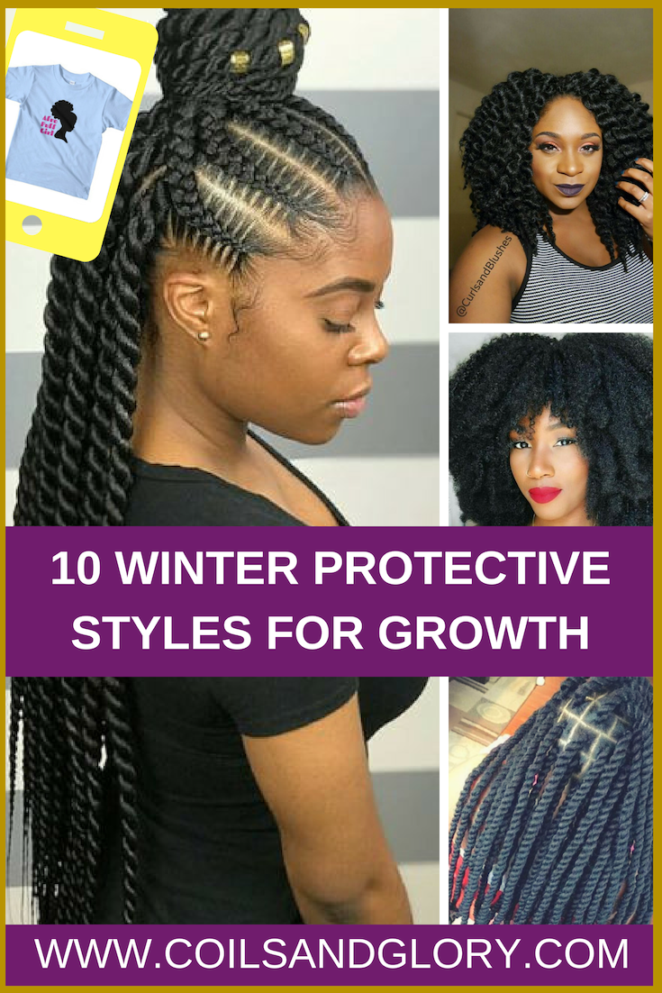 10 winter protective styles for 4c natural hair | natural