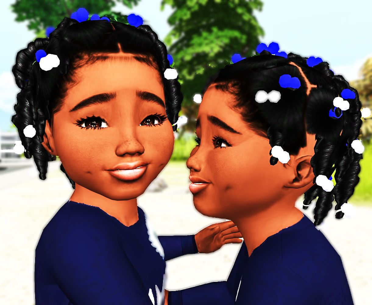 Ebonix Sincerelyasimmer Twisted Pigtailscan We Take A Moment To Give Sincerelyasimmer A Mf Standing Ovation These Are The Cutest Litt Sims Sims 4 Sims Hair