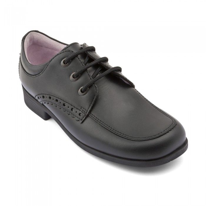 Mambo Black Leather Girls Lace Up School Shoes Girls School Shoes