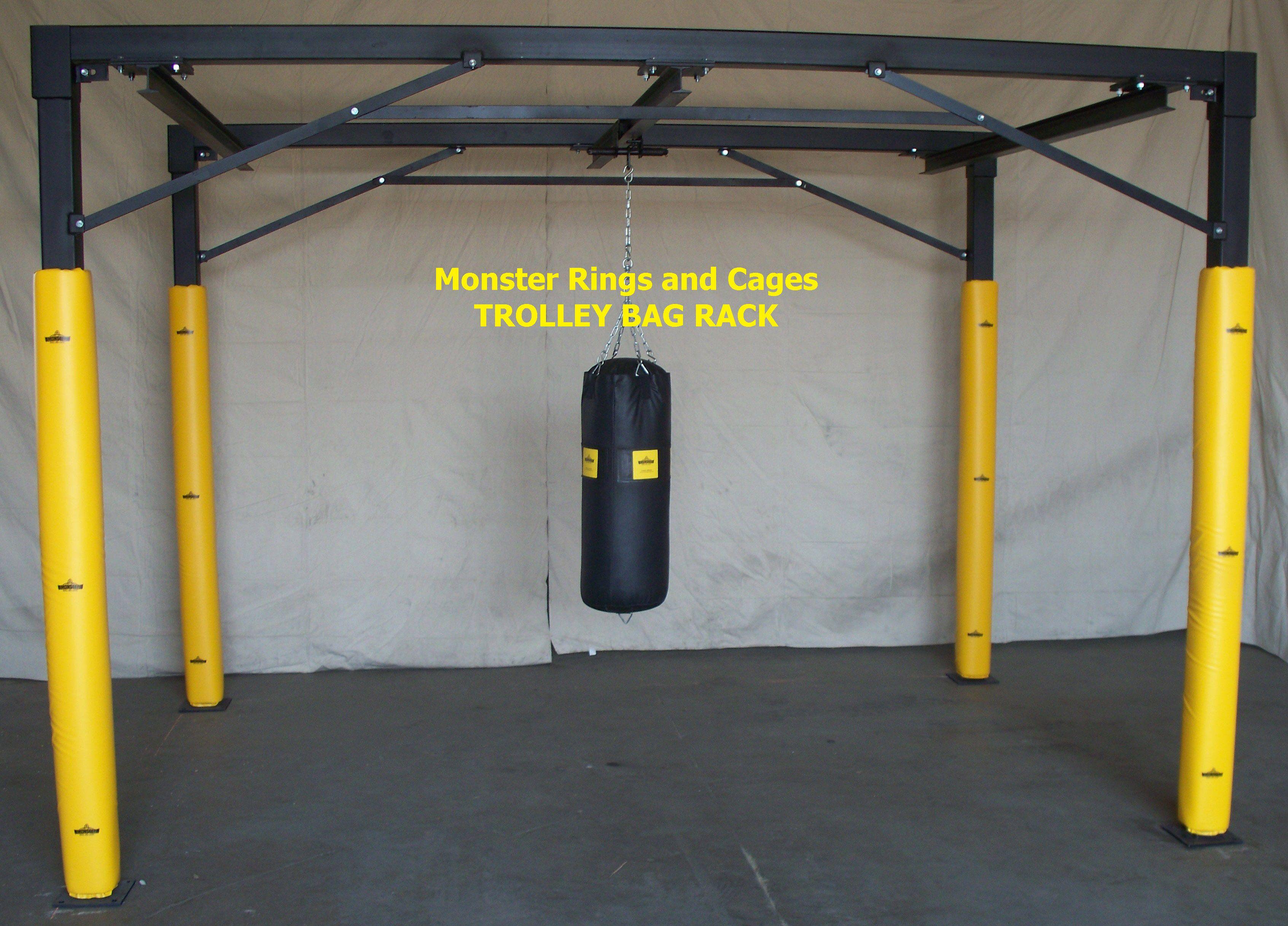 rolling trolley bag racks gym setup