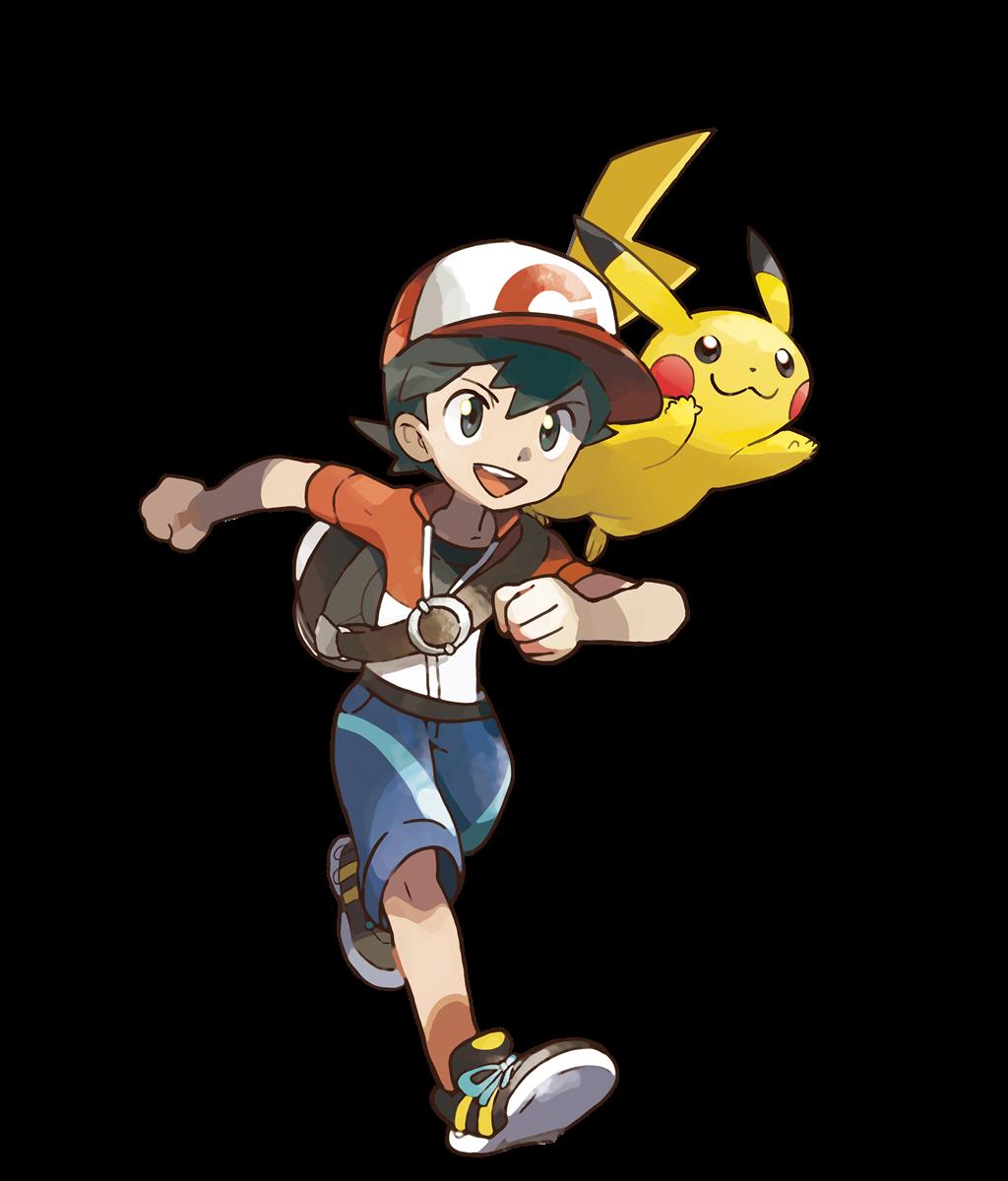 Pokemon Let S Go Male Trainer Artwork Pokemon Pokemon Pikachu Art Pokemon Go Red Team