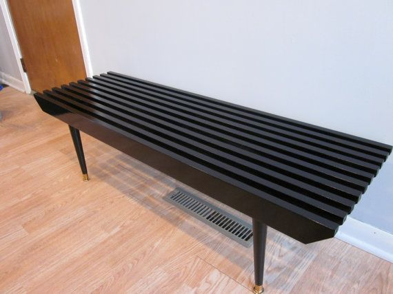 Incredible Small High Gloss Black Slat Bench Table By Joelturnerdesigns Creativecarmelina Interior Chair Design Creativecarmelinacom