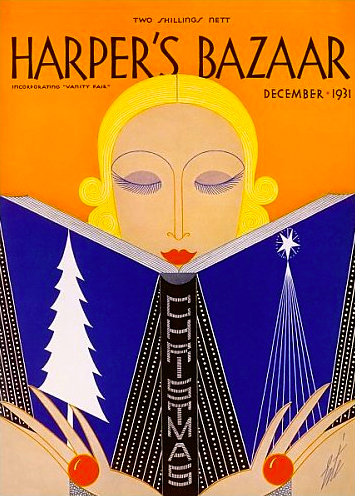 Harpers Bazaar Vintage Magazine Cover Christmas Dec 1931 ERTE