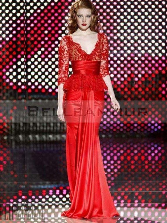 Robes de soiree rouges longues
