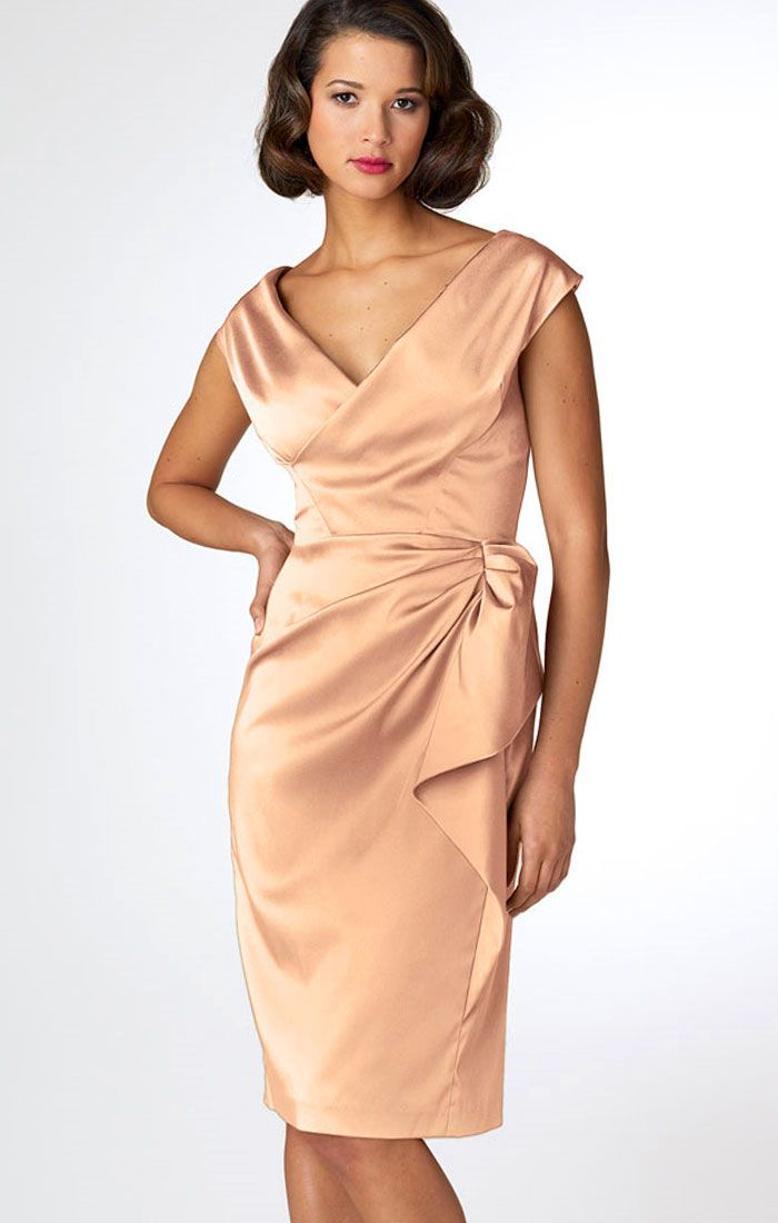 Sheath Dress Satin Tail By Maggy London Elegant Dresses