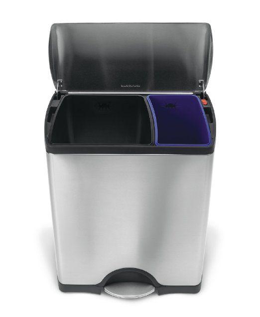 Best Amazon Com Simplehuman Rectangular Step Recycler 400 x 300