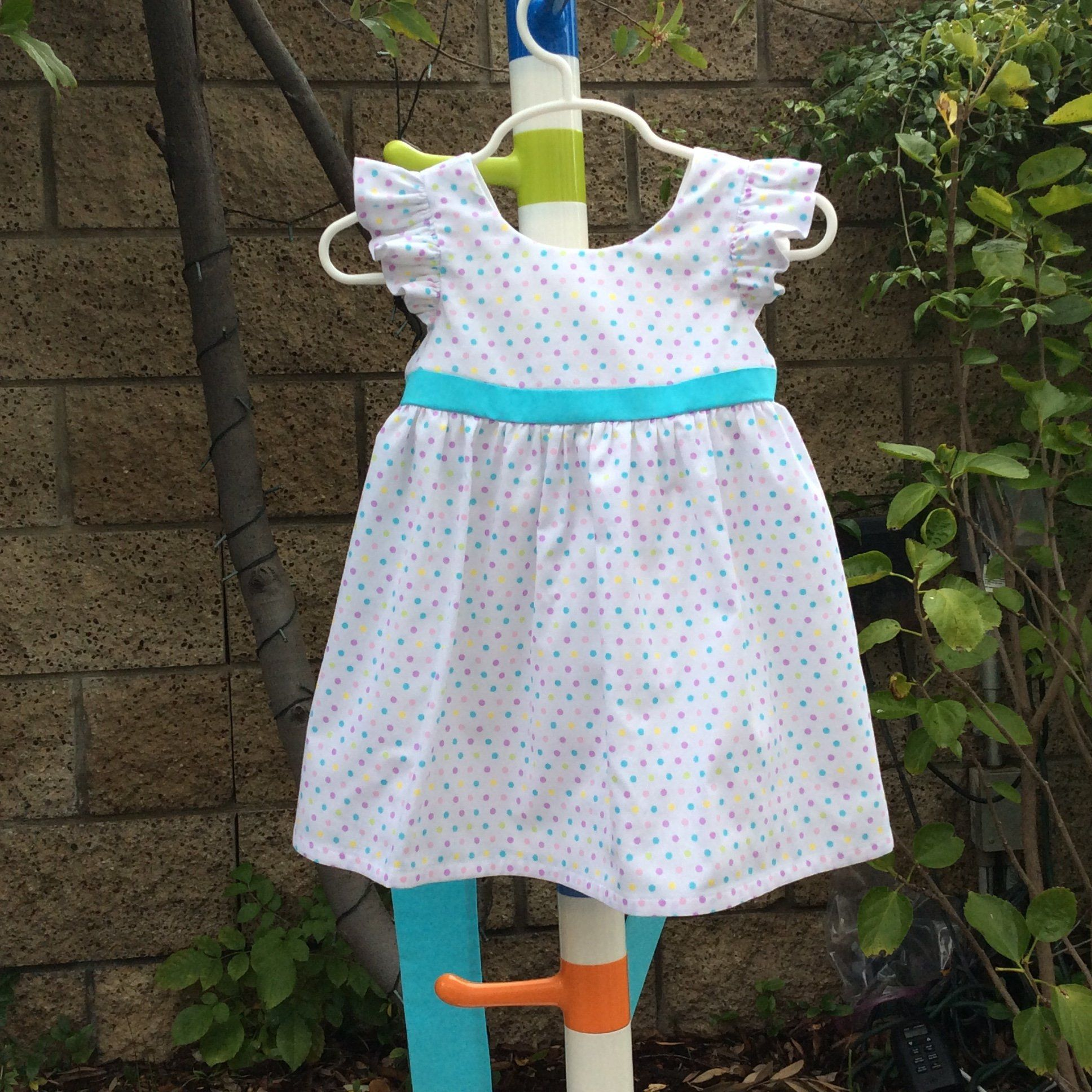 Girls Polka Dots Easter Spring Summer Party Cotton Dress Or Dress Bloomer Set Ruffle Sleeves White Aqua Purp Dress Bloomers Girls Party Dress Girl Outfits [ 1936 x 1936 Pixel ]