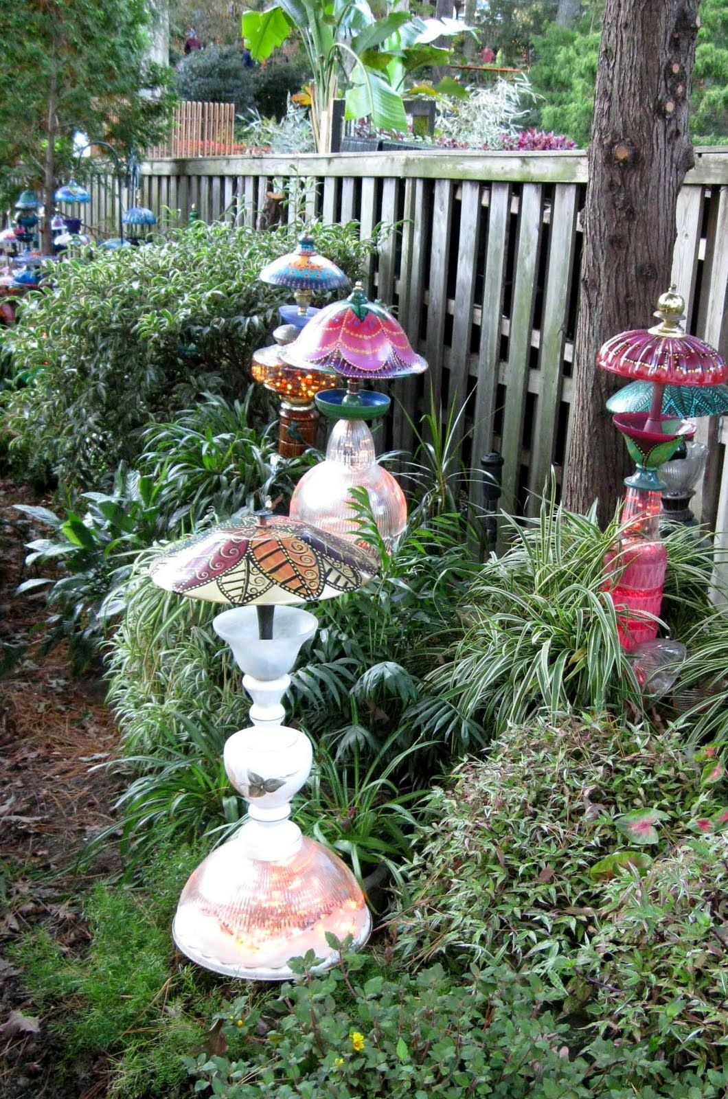 Donna\'s Art at Mourning Dove Cottage: Whimsical garden lamps and ...