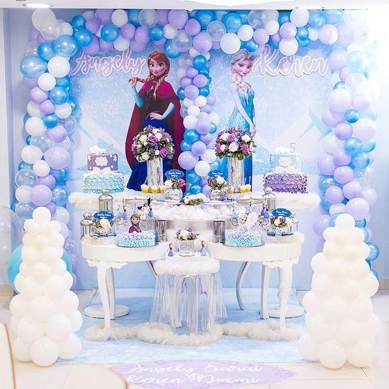 Temas De Fiesta Para Nina De Frozen Frozen Decoracion Fiesta Fiestas Infantiles De Frozen Temas Para Fiestas