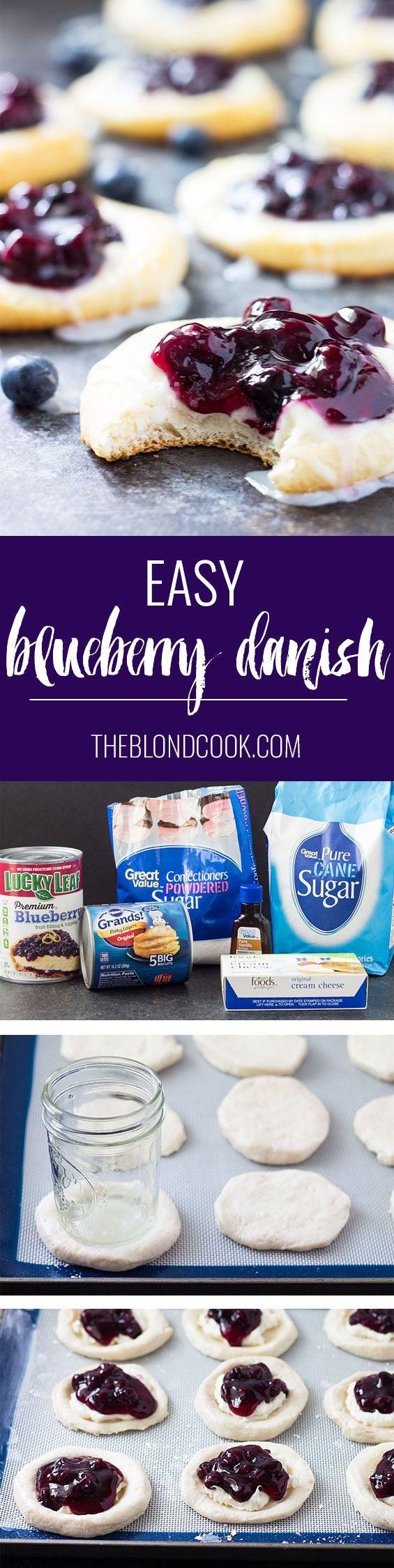 Easy Blueberry Danish | Recipe | Blueberry danish, Food ...