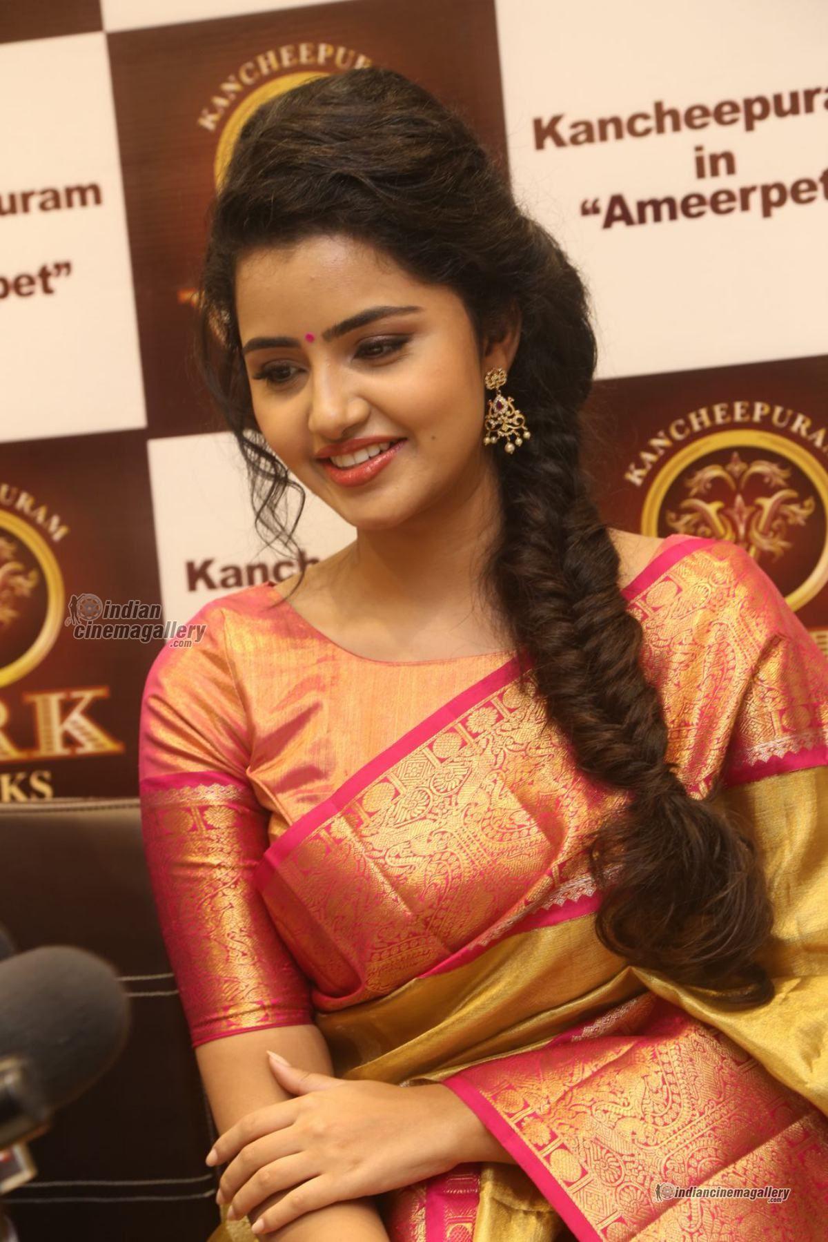 Anupama Parameswaran At Vrk Silks Launches Photos 46 Traditional