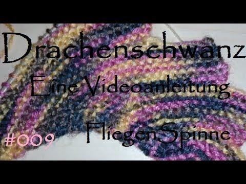▷ Drachenschwanz stricken #009 - YouTube | Vortex shawl | Pinterest ...