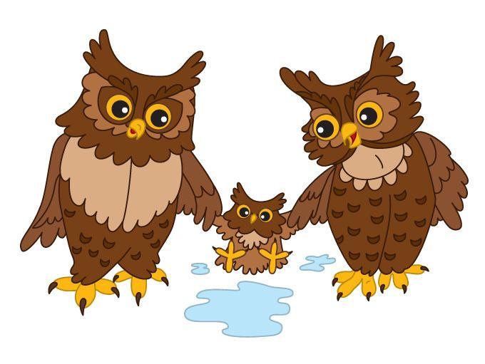 Owls Clipart Digital Vector Ows Baby Owl Woodland Owl Cute Cartoon Owl Vector Bird Owls Clip Art For Personal And Commerc Baby Owls Owl Clip Art Art