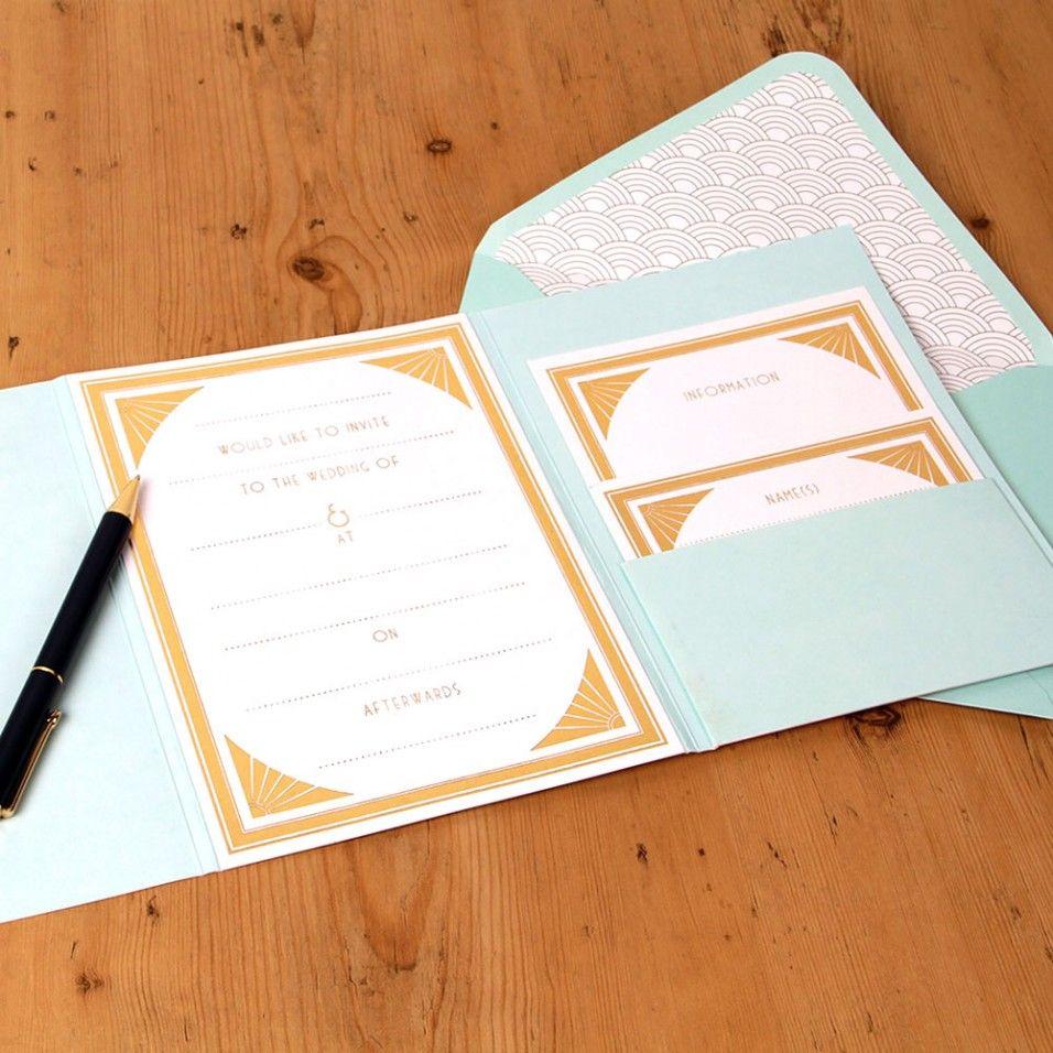 Gatsby Tiffany blue wedding invitations - Paperchase | wedding ...