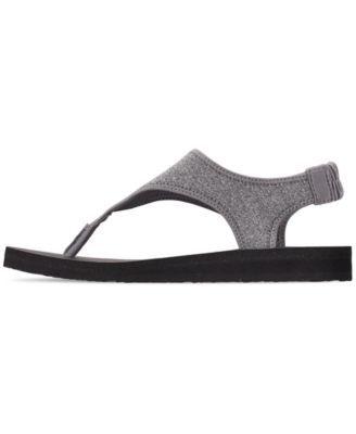 Skechers Women S Meditation Flow Nation Flip Flop Thong Sandals