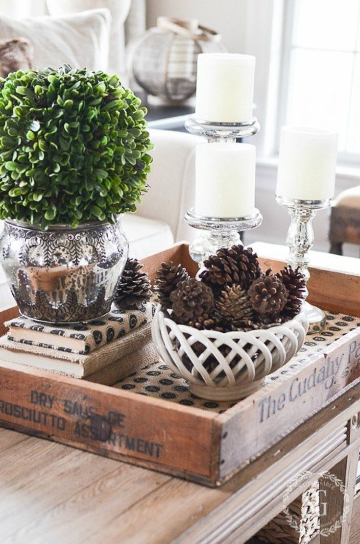Coffee Table Tray Decor 15 Ways To Decorate Your Home For Winter  Decorating Winter And