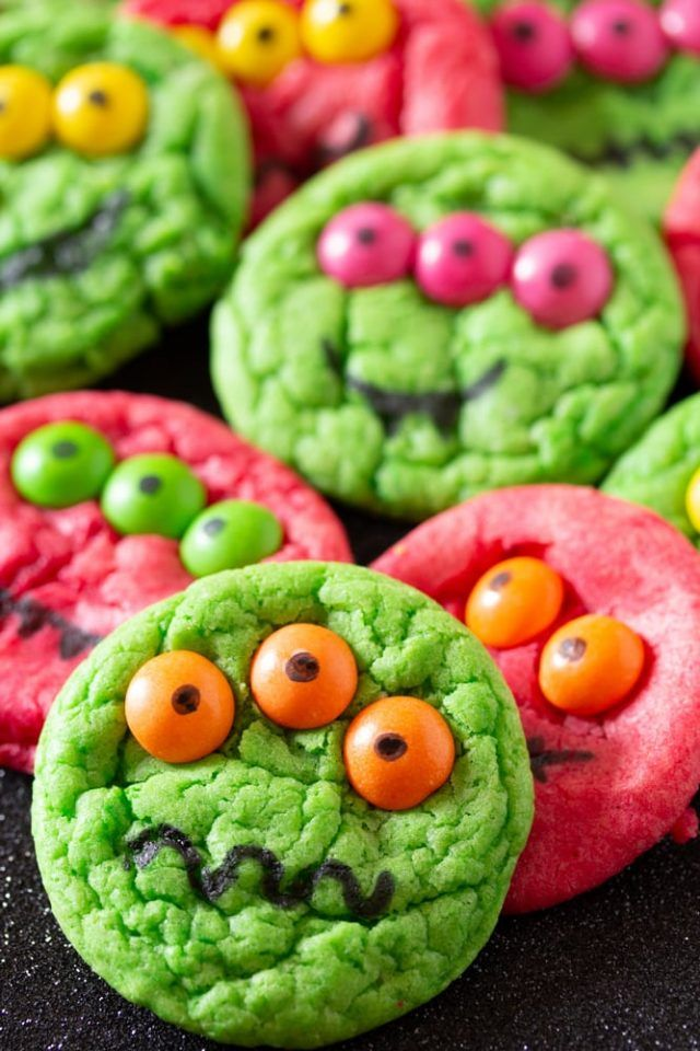 Six Ingredient Halloween Monster Cookies | Halloween ...