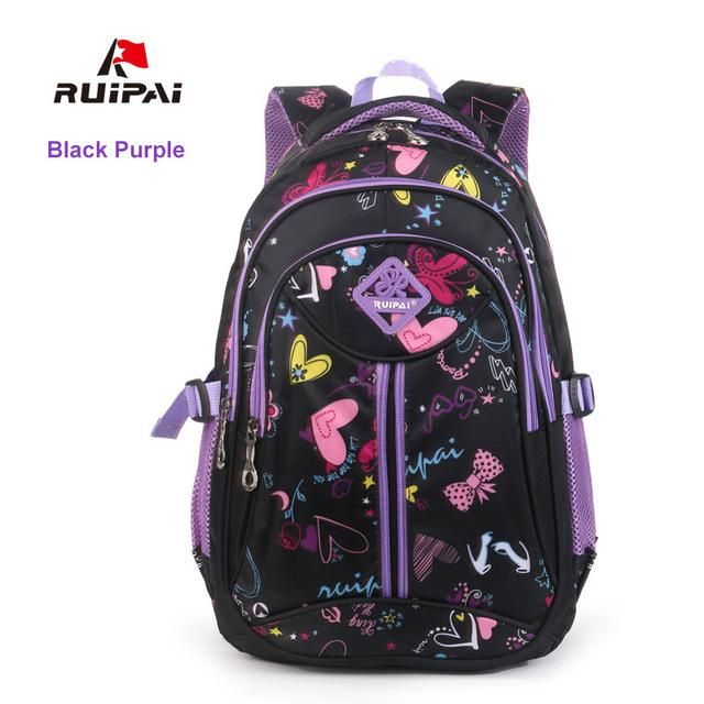 2004a79861 RUIPAI Polyester Kids Backpack Schoolbags Orthopedic Shoulder Bags For  Primary School Flower Girl Bags Backpack Fashion