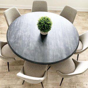 Nolan Round Pedestal Dining Table, Rustic Sable, 60