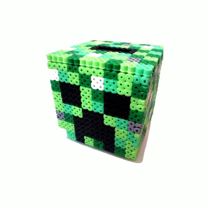 minecraft creeper perler bead money box by regalopia freak. Black Bedroom Furniture Sets. Home Design Ideas