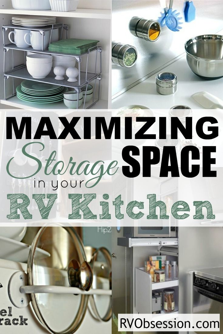 Small Kitchen Storage Ideas - When youu0027re limited in space you need to make the most of all the storage that you have in your small RV kitchen. & Small Kitchen Storage Ideas | RV Storage u0026 Organization | Pinterest ...