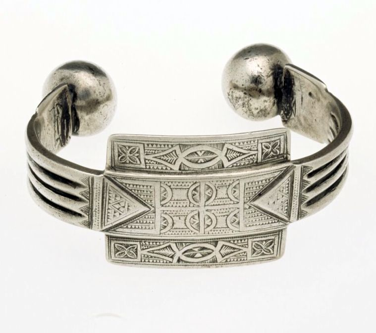 Morocco | Anklet; silver | African Museum (Belgium) Collection; acquired 1982
