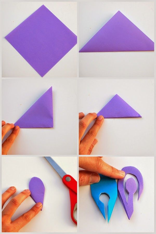 How to make colorful kirigami flowers see best ideas for Kirigami paper art