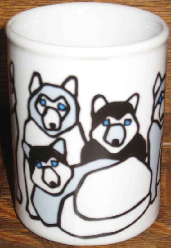 Marc Tetro Canada Siberian Husky Sled Dogs Coffee Mug Cup Montreal
