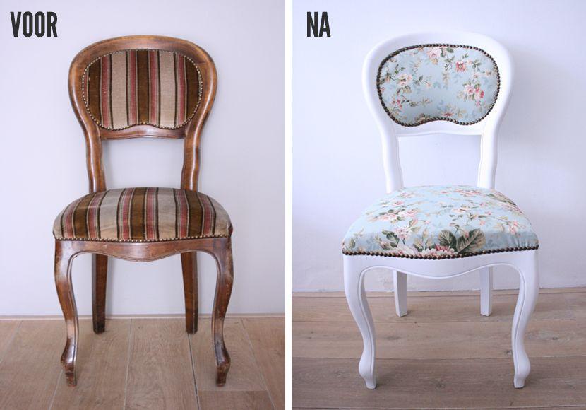 Stoel Bekleden Stof : Bureaustoel zelf bekleden stoel stofferen zelf lovely stoel
